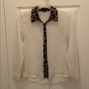Mine sheer button up blouse